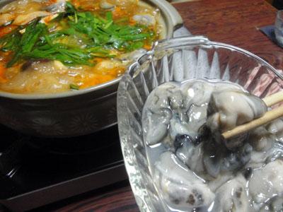 牡蠣とキムチ鍋