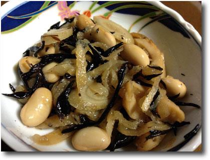 切り干し大根とひじきと大豆の煮物