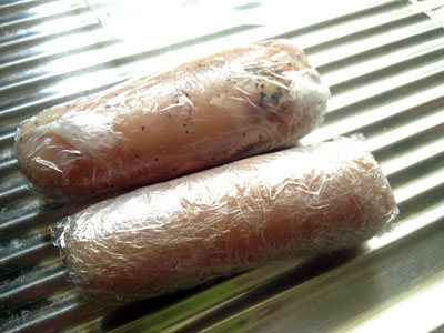 鶏ハム調理中2