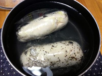 鶏ハム調理中5