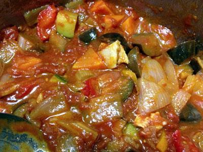 夏野菜のトマト煮込み(ラタトゥイユ)4