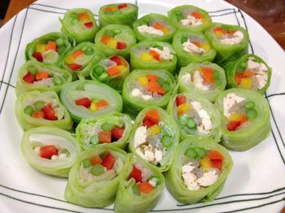 野菜のキャベツ巻き1