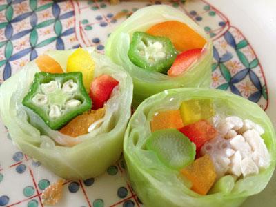 野菜のキャベツ巻き