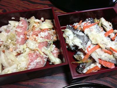鮭とハタハタの飯寿司(イズシ)