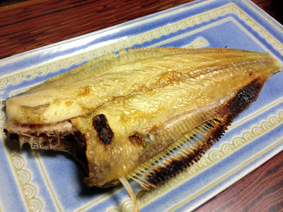 干しナメタの焼き魚