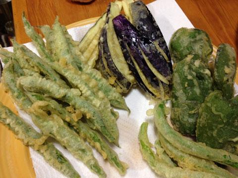 野菜の天ぷら2