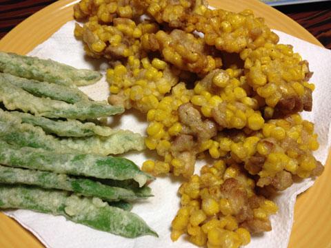 トウキビと鶏肉のかき揚げ6