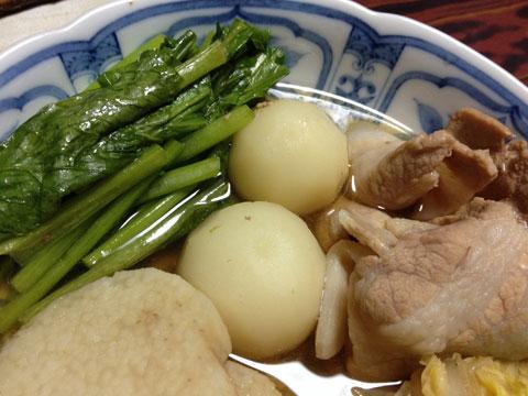 小カブと白菜と長芋と豚バラのさっと煮2