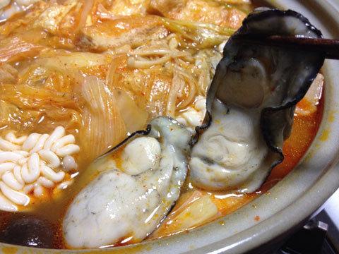 キムチ鍋のカキ