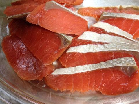大根と鮭のはさみ漬け用鮭