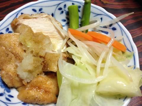 鶏の唐揚げ(片栗粉使用)おろしポン酢添え1