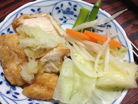 鶏の唐揚げ(片栗粉使用)おろしポン酢添え