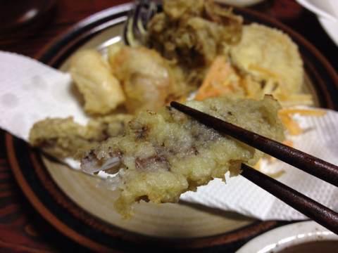 シャコを天ぷら2