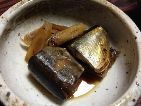 サンマの黒酢煮