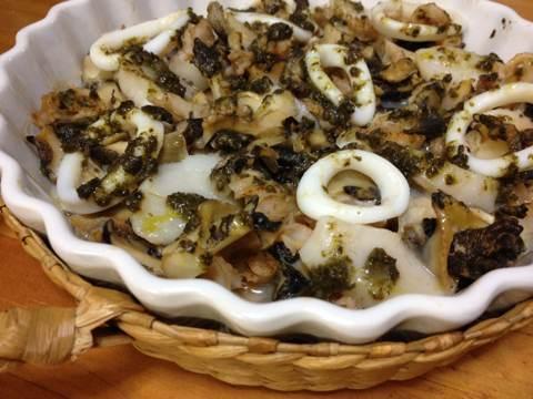 ツブとホタテのオーブン焼き(バジル風味)img