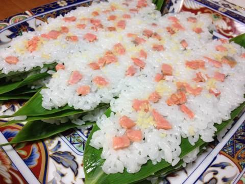 鮭と鰊でつくる笹寿司10