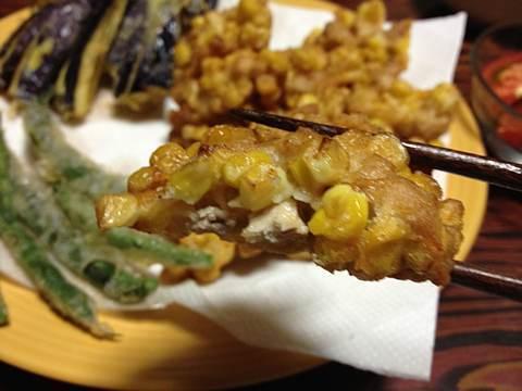 トウキビと鶏肉のかき揚げimg2