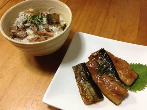 サンマの蒲焼きで混ぜご飯img