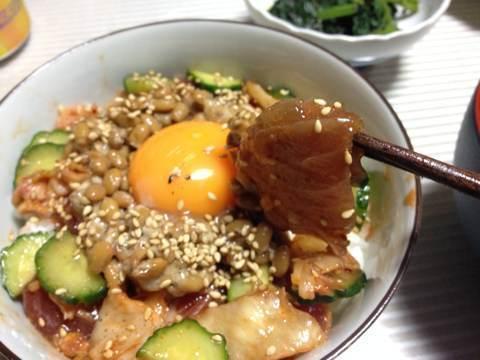 マグロ納豆キムチ丼1