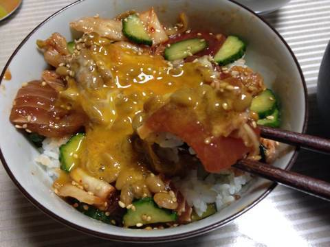 マグロ納豆キムチ丼2