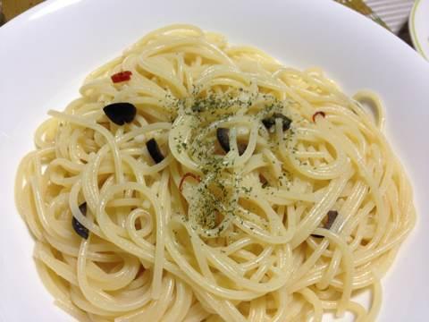 ツブとホタテとエビのオーブン焼き用ペペロンチーノ