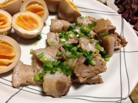 残ったピクルス液で煮豚2