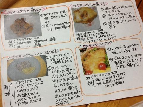 カジキマグロのレシピ