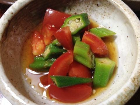 トマトとオクラの土佐酢和え