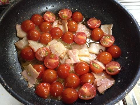 ミニトマトのパスタ1