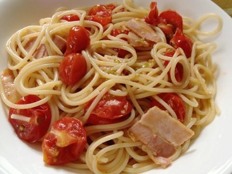 ミニトマトのパスタ2