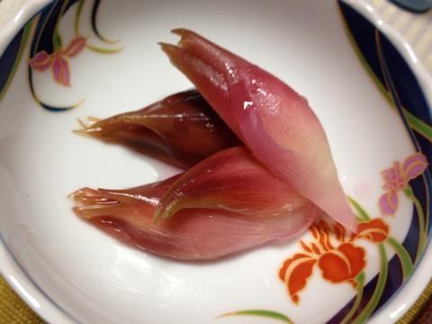 ミョウガの甘酢漬け1
