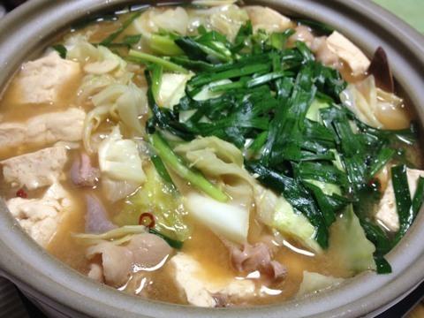 鍋の季節〜モツ鍋1