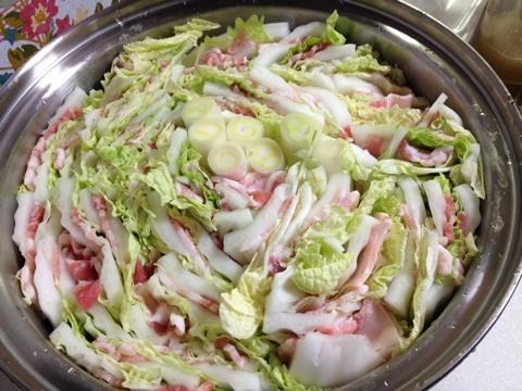 白菜と豚バラの重ね鍋1