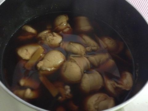 鮭の白子の醤油煮3