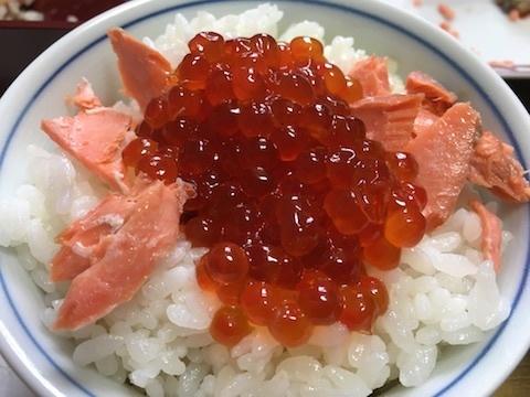 イクラと塩鮭