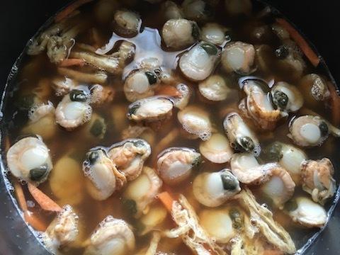 ホタテの稚貝の炊き込みご飯4