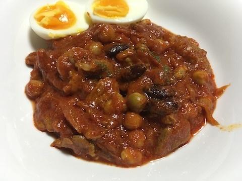 ラム肉と豆のトマト煮1