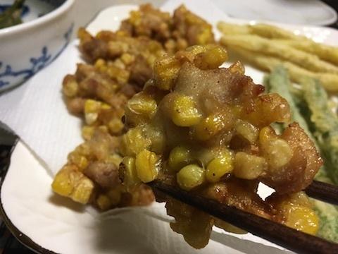 トウキビと鶏肉のかき揚げ2