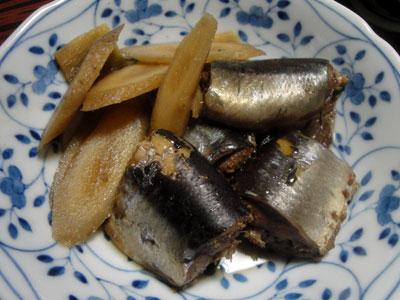 サンマの黒酢煮1