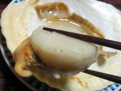 野付産の殻付きホタテ焼き3