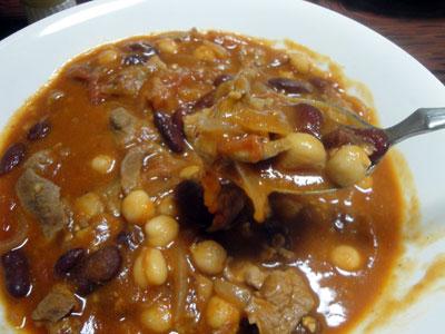 ラム肉と豆のトマト煮4