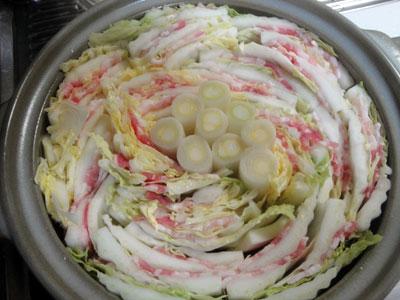 白菜と豚バラの重ね鍋2