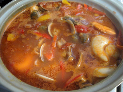 魚介のトマトスープ2