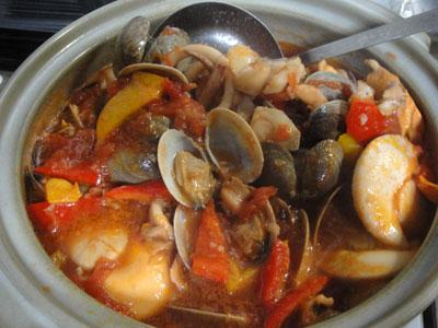 魚介のトマトスープ1