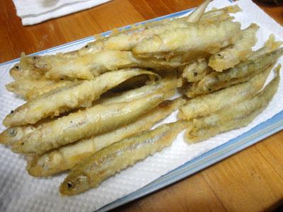 チカの天ぷら